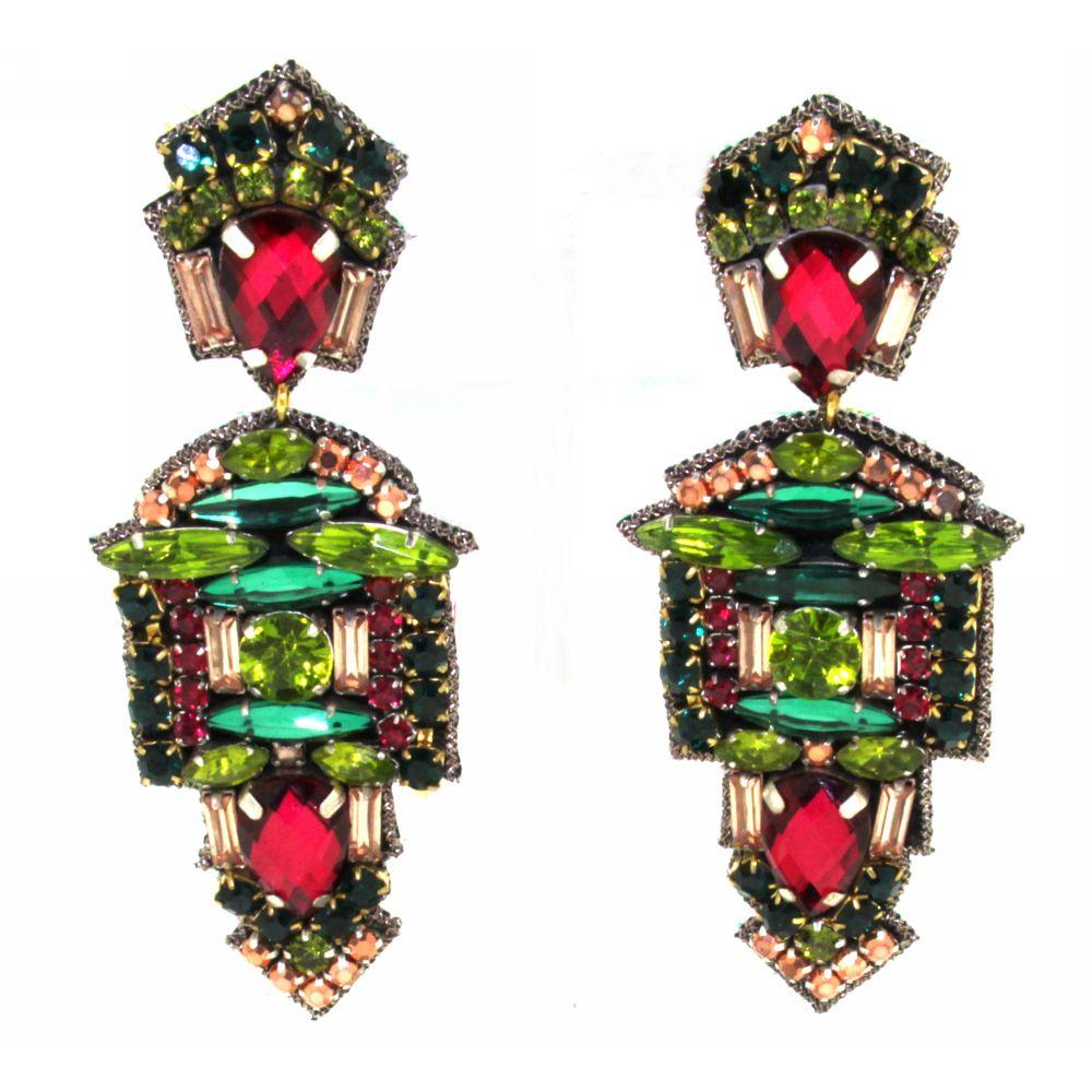 Orecchini pendenti con cristalli