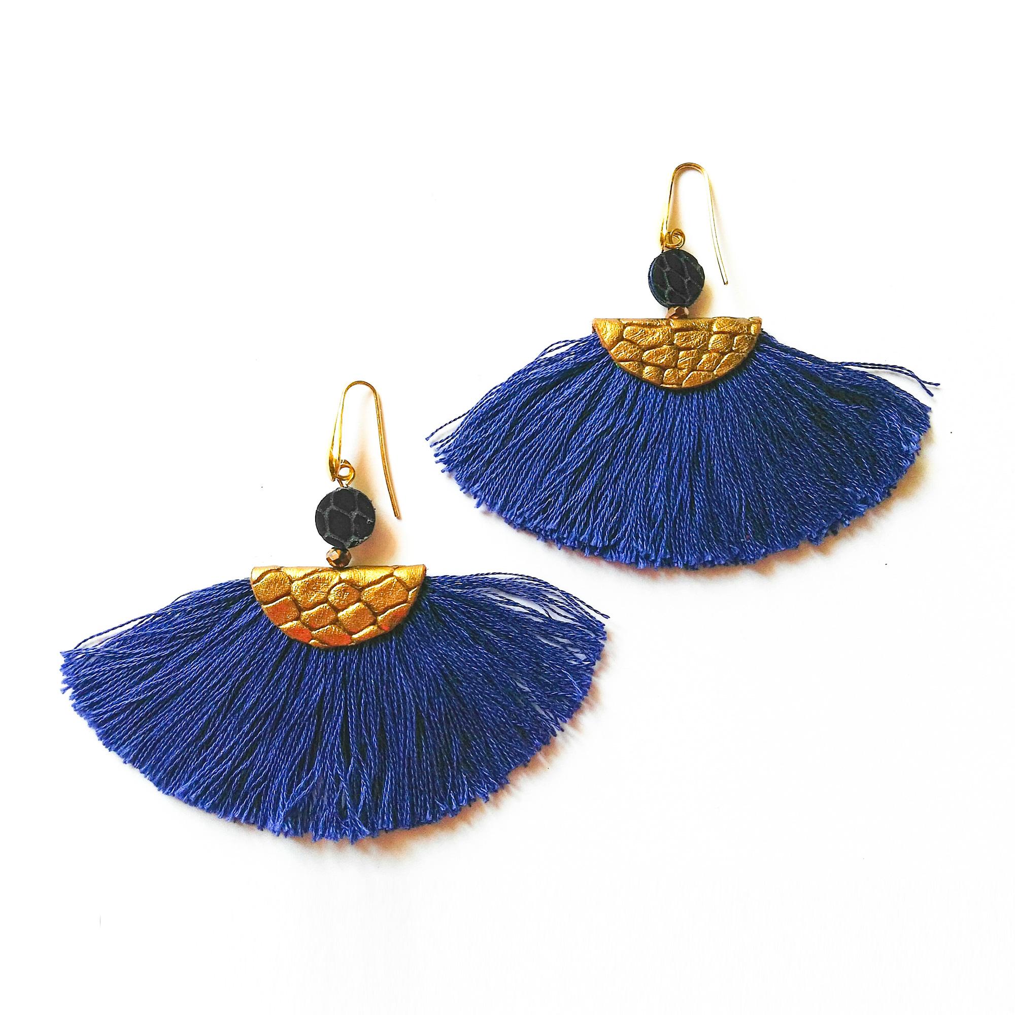 Popolare orecchini frange cotone | Xingu Blu | bluepointfirenze.it AS61