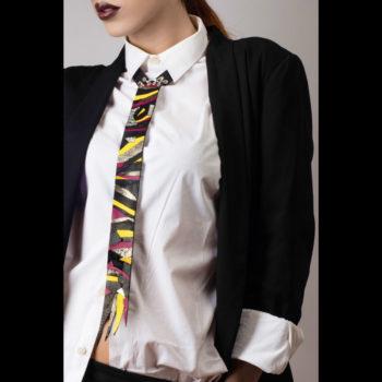 Cravatta in pelle donna