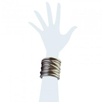 Bracciale in pelle metalizzato