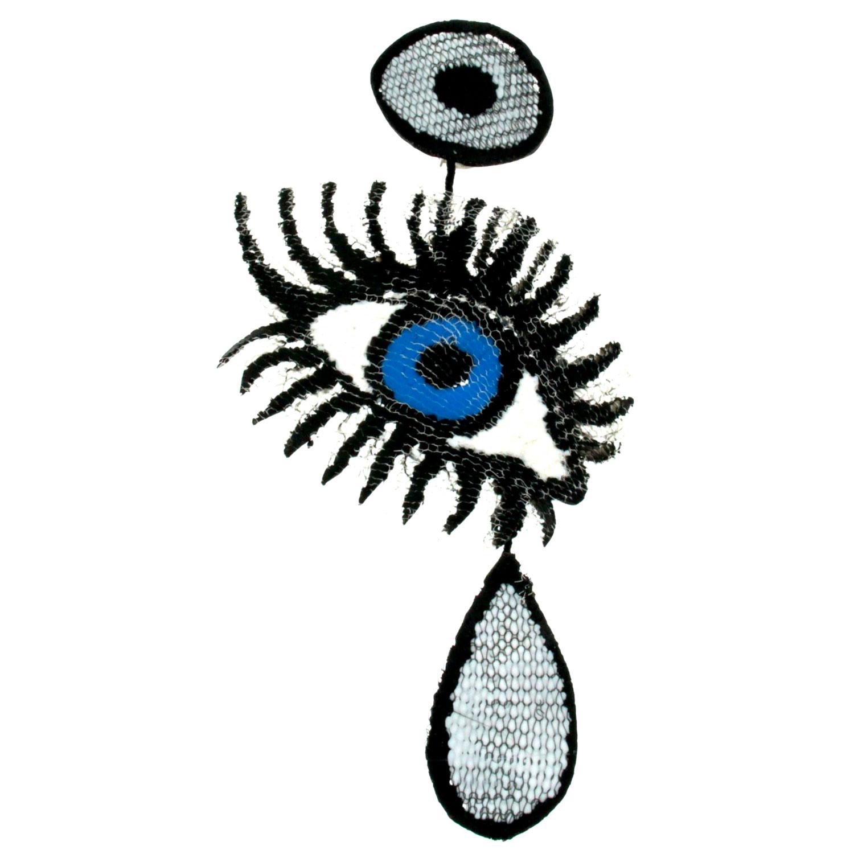 Orecchini in silicone a forma di occhio