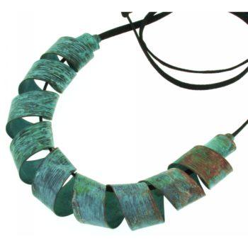collana bronzo azzurro|Circe