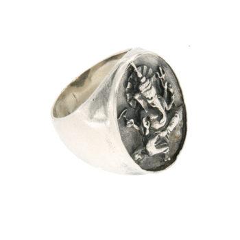 anello argento massiccio Ganesh