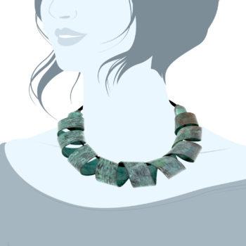 collana bronzo azzurro|Circe -1000x1000