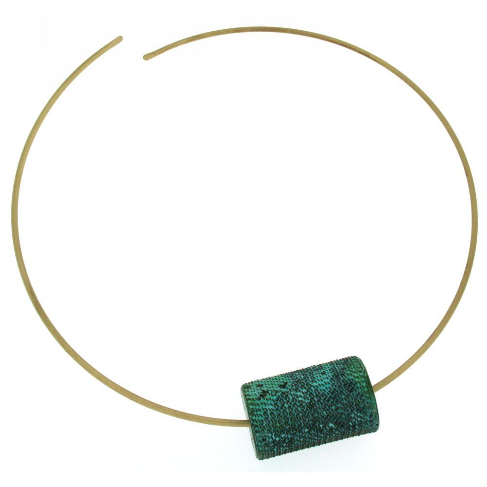 girocollo ottone ossidato-Atena