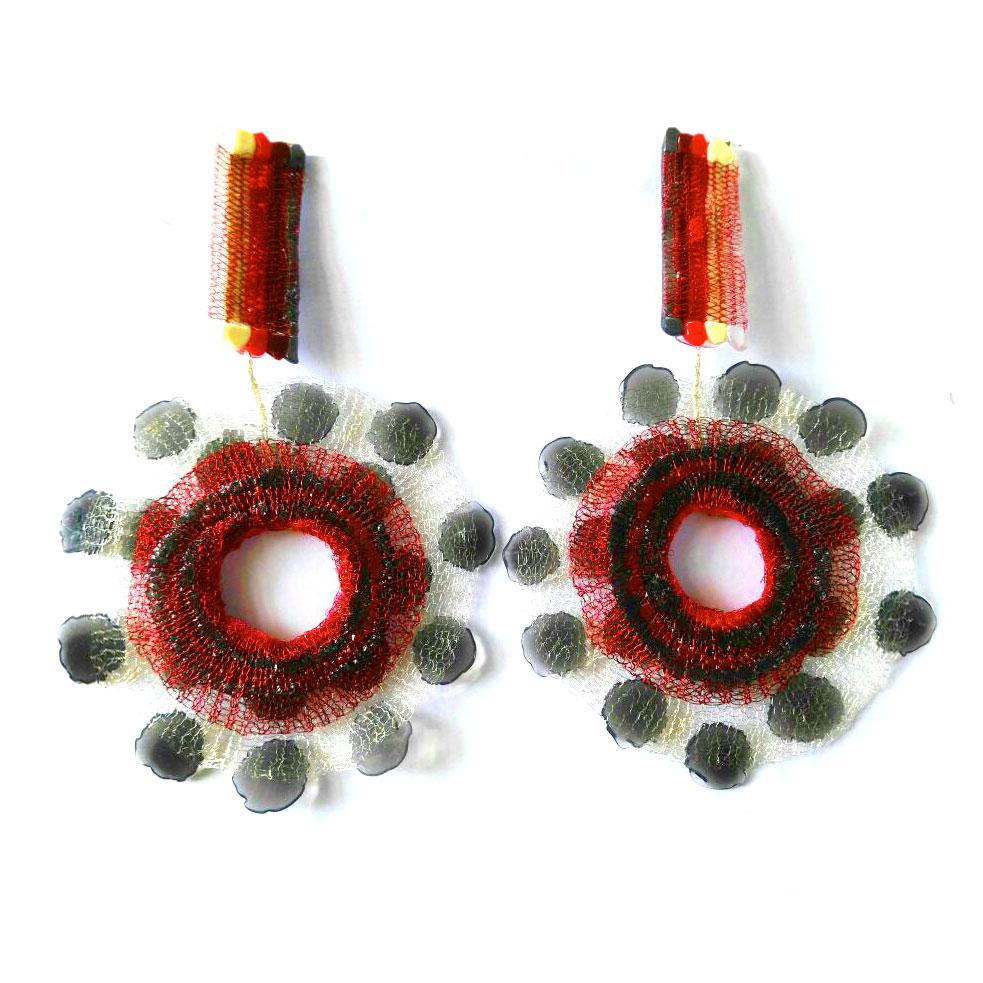 orecchini silicone-redlace