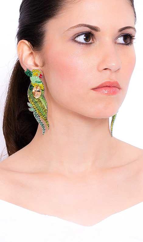 orecchino pappagallo