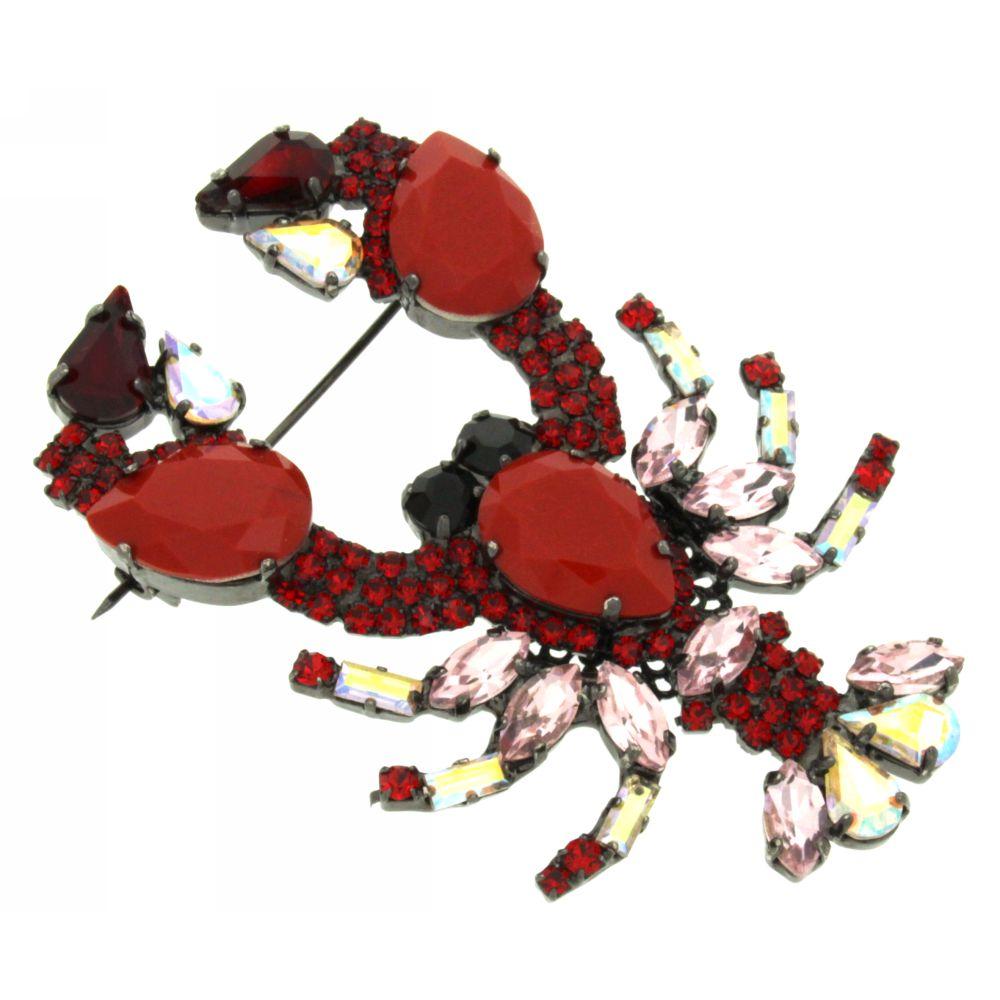 Spilla cristalli-Lobster