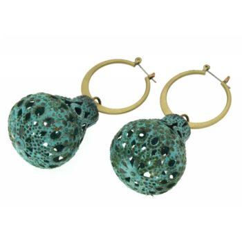orecchini ottone galvanizzato Samo