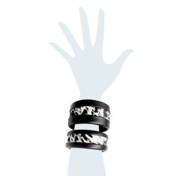 Bracciale in pelle Antiope Set B&W