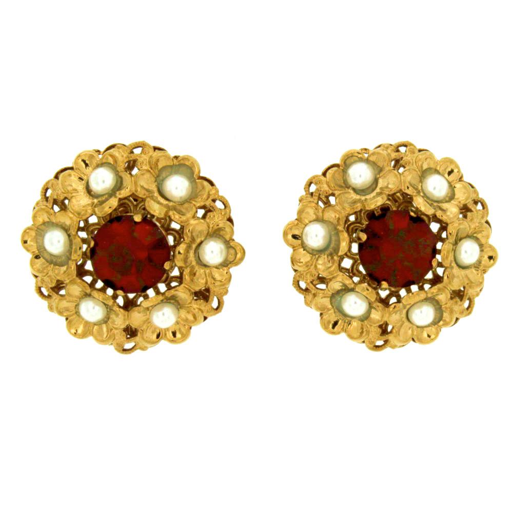 Orecchini barocchi Gonzaga Rosso