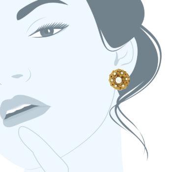 Orecchini barocchi Gonzaga perla