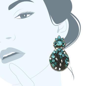 Orecchini cristalli azzurri blu Blue Dream