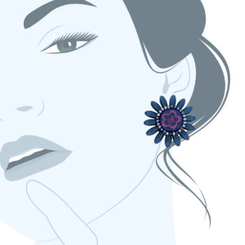 orecchini fiore clips Daisyblue