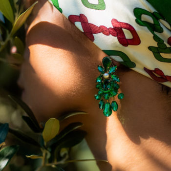 Orecchini pietre verdi Greenbunch