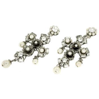 Orecchini croce con perle Cross Flower
