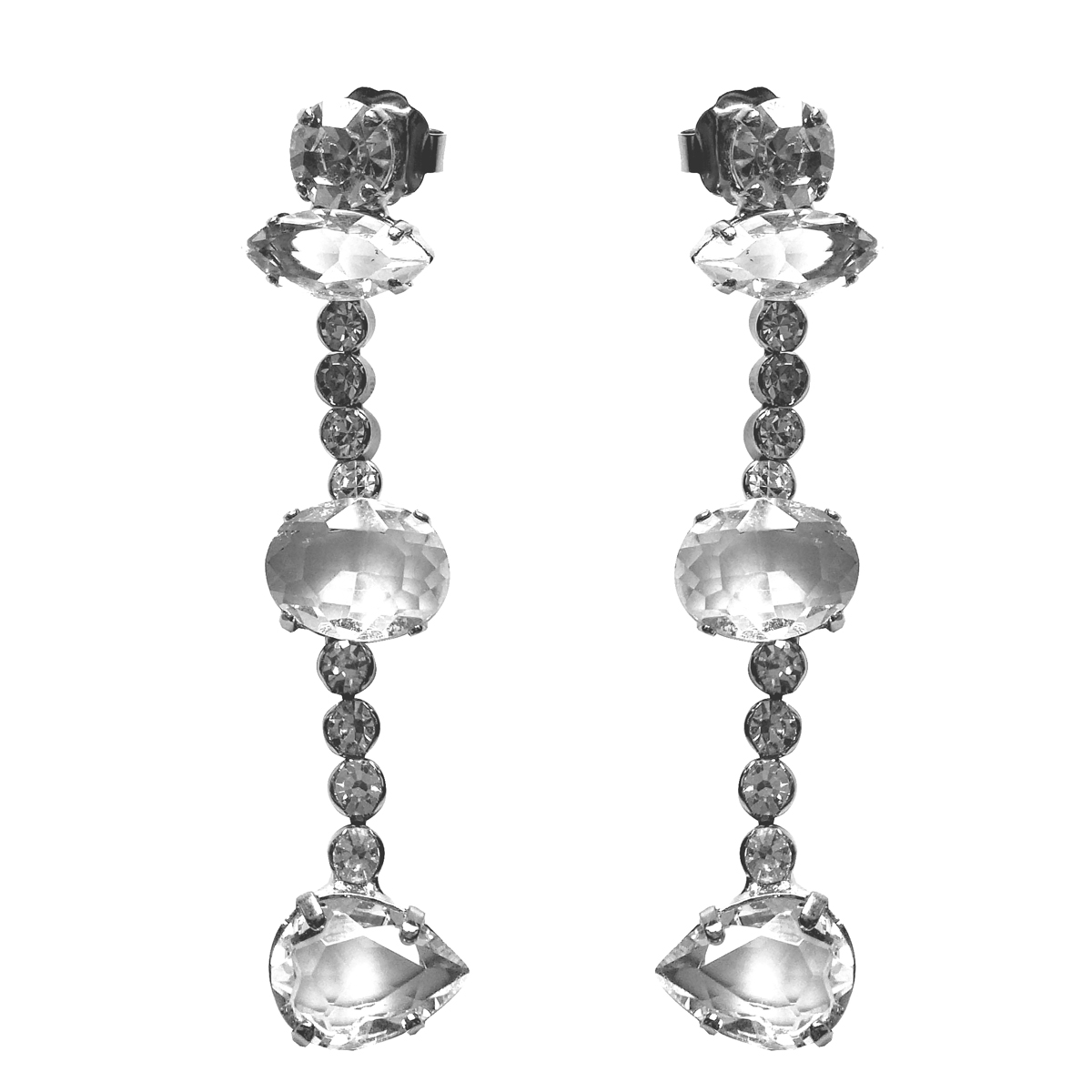 orecchini cristallo whiteoverwhite