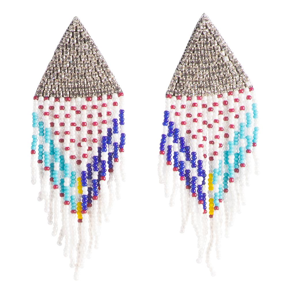 orecchini perline e strass