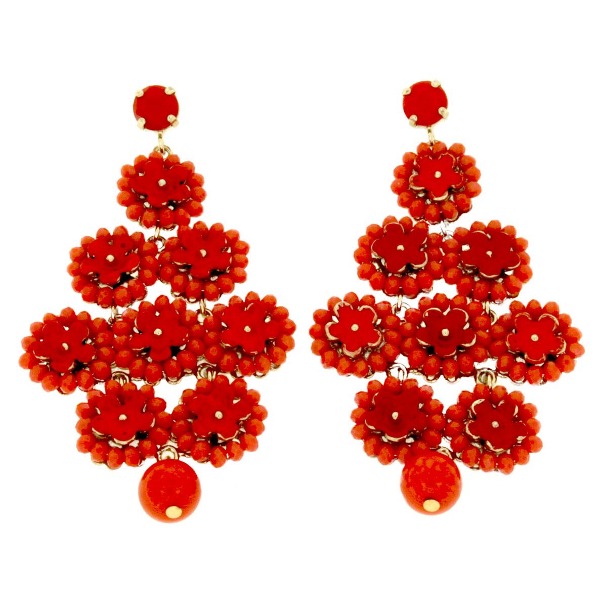 orecchini boho color corallo Bohotrip Due