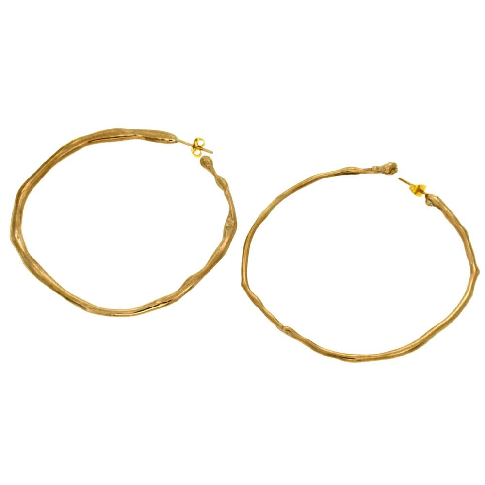 Orecchini cerchio bronzo Cerchiostrano