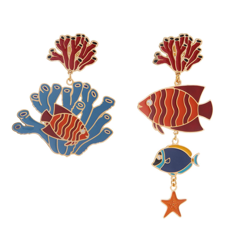 orecchini Corallo Blu