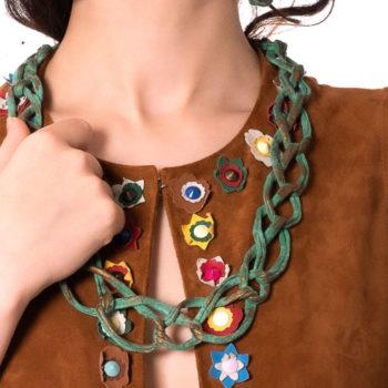 Collana in cotone acetato