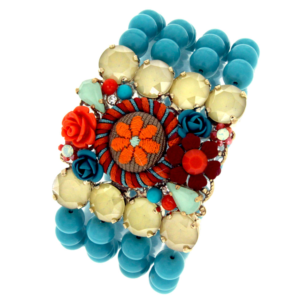 Bracciale boho color turchese Malibubeach