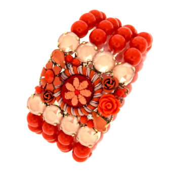 bracciale boho color corallo Malibured