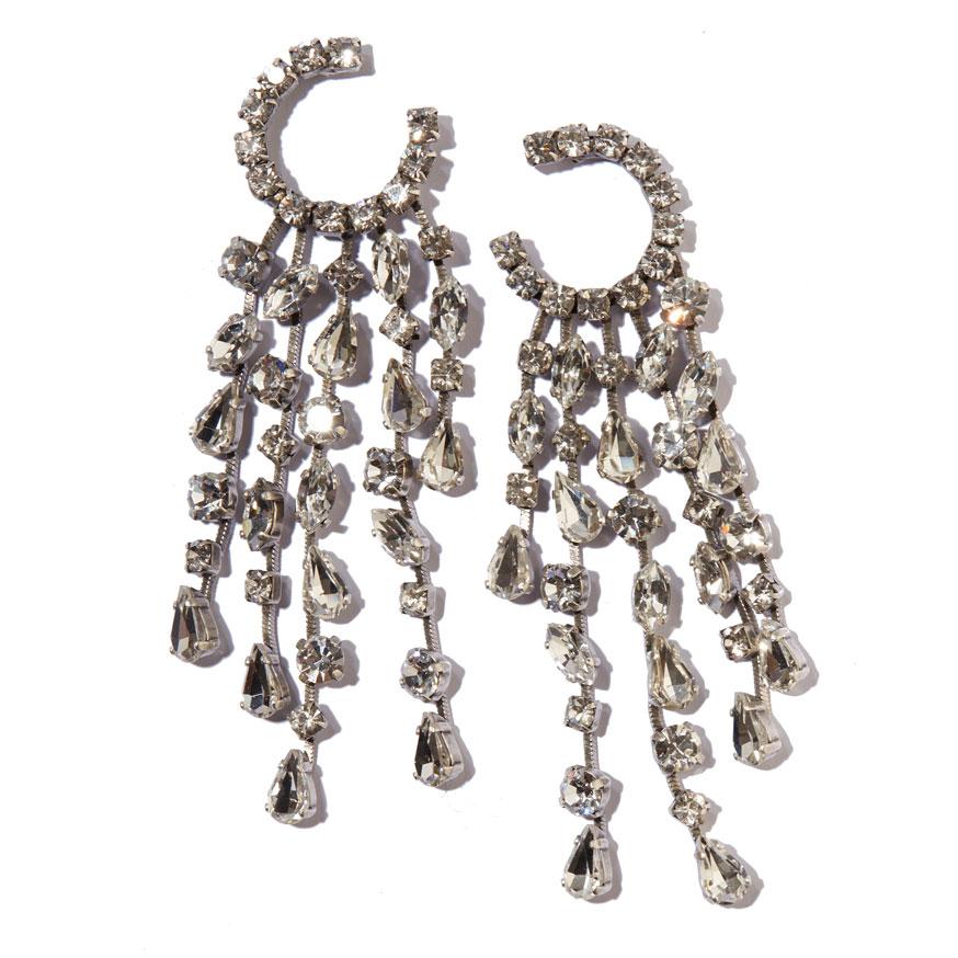 orecchini cristalli lunghi Aura