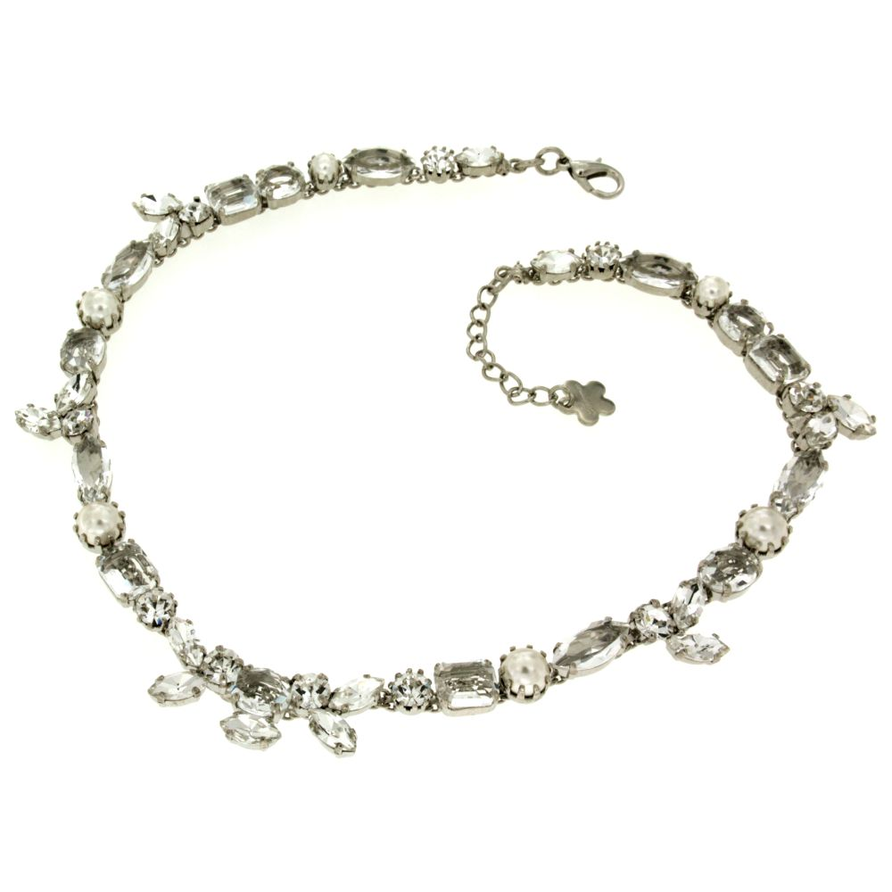 Collana cristalli e perle Overpearl