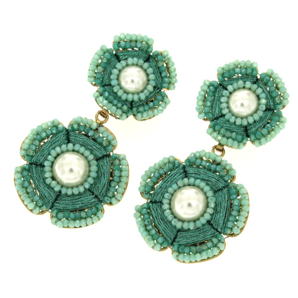 orecchini verde acqua Penelope Pastel