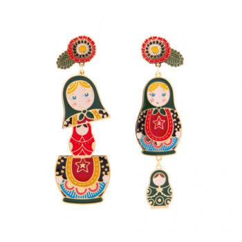 orecchini bambolina russa