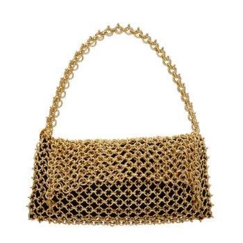 borsa gioiello metallizzata oro