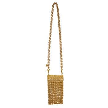 borsetta metallizzata oro