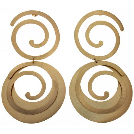 Maxi orecchini dorati