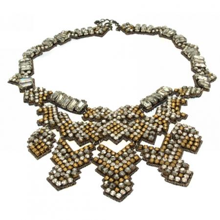 Collana con cristalli vintage
