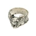 anello argento massiccio Eagle