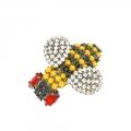 spilla forma di ape con cristalli