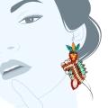 Orecchini cristalli  vintage-Mixbeach