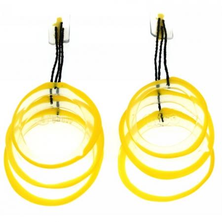 Orecchini in gomma e silicone- Yuri giallo