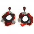 Orecchini in silicone Macha Rosso
