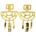 Orecchini Gold Criss-Cross