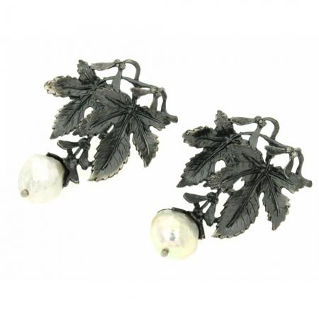 Orecchini argento brunito September Morn