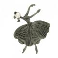 """Anello argento brunito ballerina """" Giselle"""""""