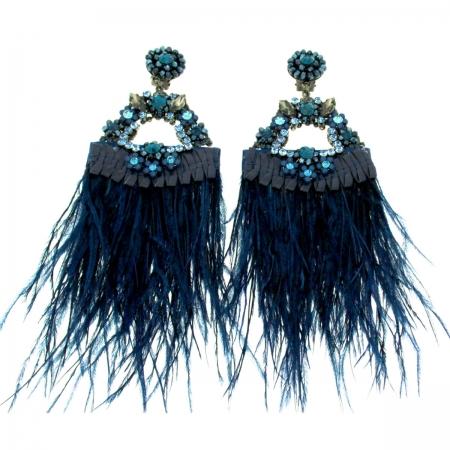 Orecchini piume Colette Blu