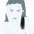Orecchini piume Lady Mary Green
