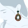 orecchini pendenti boho Greendark