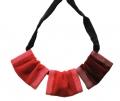 """collana velluto rosso """"trepezzi"""""""