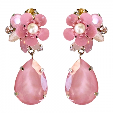 Orecchini glamour rosa Jolies Gouttes