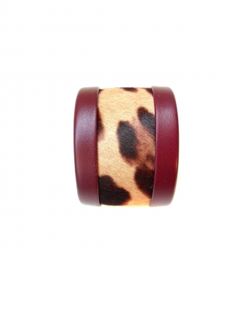 bracciale in pelle animalier Antiope Roar